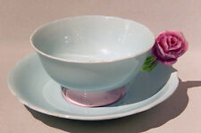 Rare Paragon RED ROSE FLOWER HANDLE Cup & Saucer Double Warrant MINT
