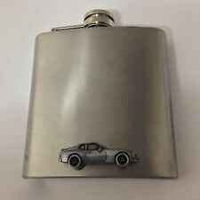 Porsche 944 ref190 Pewter Effect Car on a 6oz Stainless Steel Hip Flask
