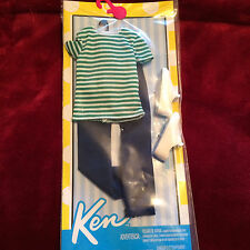 NEW Barbie Ken Doll Clothes White Shoes Stripe Shirt Jeans