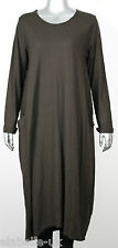 New Italian Lagenlook Quirky Boho Jersey Soft Cotton Stretch Pocket Tunic Dress
