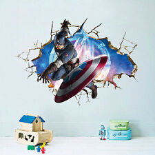 Super Hero Captain America Marvel The Avengers Wall Sticker Boys Kids Room Decal