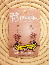 Recycled Dancing Girl Bananas Earrings new Fair Trade from Africa jedg75