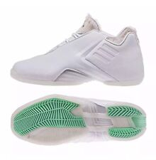 NWB Men ADIDAS TMAC 3 AQ7993 ALL STAR WHITE/GRN GLO PONYHAIR SIZE 12