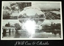 Old Postcard Of Greetings From Christchurch , Dorset