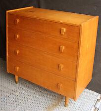 Vintage Antique Solid Oak Wood Wooden Bedroom Dresser Bachelor Chest Drawer Knob