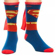 Superman DC Comics Licensed 'Suit Up' Mens Crew Sock with Cape
