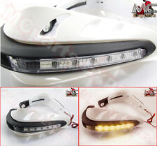 "White 7/8"" LED Motorbike Universal Hand Guards Bar End Indicator for Triumph"