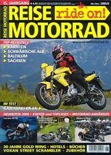 RM0506 + Reise-Test BMW K 1200 R + HARLEY-D. Street Rod + REISE MOTORRAD 6 2005