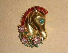 1942 Coro Craft Sterling Silver Horse Head Fur Clip #133729 - Book Piece