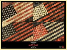 SHEPARD FAIREY MAY DAY FLAG ART PRINT S/N #375/600 (2010) OBEY GIANT VERY RARE!