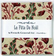 Moda Fabric Charm Pack LA FETE DE NOEL 100% Cotton Christmas Fabric Squares