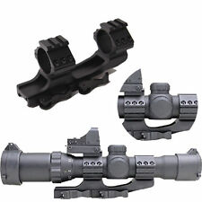 """30mm/1"""" Dual Ring Cantilever Quick Release Scope Rail Mount Picatinny Weaver SER"""