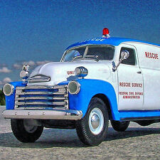 LAST RARE - CIVIL DEFENSE 1949 CHEVY AMBULANCE HEARSE EMS RESCUE - First Gear