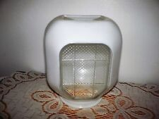 Vintage WINDOW  PANE Glass Globe Shade Bathroom Porch Sconce Wall Light