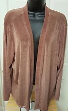 Citiknits NWT Woman's Plus Petite Brown Cover Shirt Size 1XP