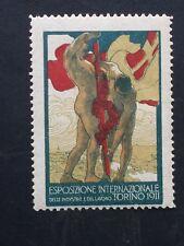 RARO ERINNOFILO ESPOSIZIONE INTERNAZIONALE TORINO 1911