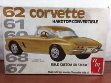 Vintage Amt 1962 Corvette Plastic Model Kit Junkyard Parts Project Diorama