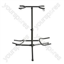 New Jersey Sound Corp Twin Guitar Floor Stand for 2 Electric or Acoustic Guitars