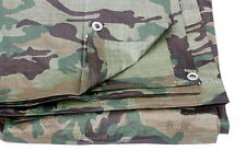 Pack of 1 - Camouflage Tarpaulin Cover Ground Sheet 4.5M X 6M 80 Gsm