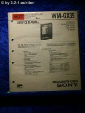 Sony Service Manual WM GX35 Cassette Player (#4027)