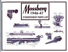 Mossberg 1946 Gun Component Parts Catalog & Gun Chronology