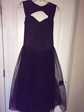 Lip Service Women's Medium Size Black Gothic/ Medieval/ Renaissance Tulle Dress