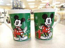 SET OF 2  Disney Mickey & Minnie Mouse Christmas Coffee Tea  Mugs 2013