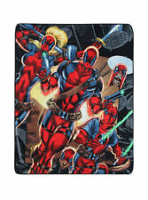 DEADPOOL CORPS Super Plush Throw 48 x 60 BLANKET Marvel Comics X MEN New Mutants