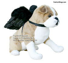 Pets Black feather angel wings costume posing props for medium size dogs cats