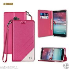 Pink Book-Style Folio Case w/Stand Cover for ZTE Max Duo LTE / Z963VL / Kirk