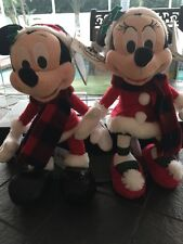 Disney Christmas 2016 Mickey And Minnie Plush New 9 Inch Set Of Two holiday