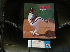 1992 GEORGE BRETT KANSAS CITY ROYALS  3000 HIT PROGRAM AND FULL TICKET NEAR MINT