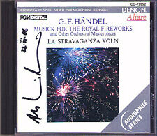 Andrew MANZE Signiert HANDEL Royal Fireworks Arrival of the Queen Sheba DENON CD