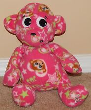 """12"""" Justice / Commonwealth Pink Squishy Plush Follow Your Dreams Monkey"""