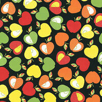 "ROBERT KAUFMAN ""LET'S EAT"" APPLE Bright by yard"