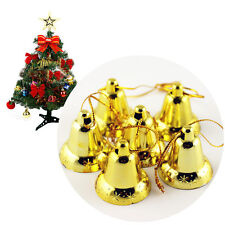 9Pcs Xmas Decoration Golden Bells Hanging Accessory Christmas Tree Ornament Gift