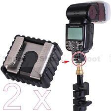 2x Hot Shoe Mount Adapter for Umbrella Holder Flash Bracket Trigger Light Stand