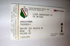 used ticket LEGIA Warsaw - FK AKTOBE 28.08.2014