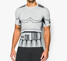 NEW MEN'S UNDER ARMOUR HEATGEAR STAR WARS STORM TROOPER COMPRESSION T SHIRT- XL