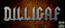 DILLIGAF Metal Wall Sign Garage Art Mancave Woman Cave Gift Ideas Plasma Cut