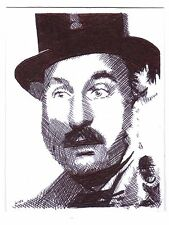 ACEO Art Sketch Card Actor Christopher Benjamin as Henry Gordon Jago