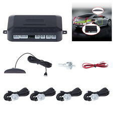 LED Car Parking Rear Reverse With 4 Ultrasonic Sensors Buzzer Radar Audio Alarm