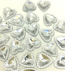 New 100pcs Rhinestone Herat 12mm FlatBack Scrapbook For DIY Making Crafts White