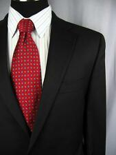 Flawless $975 JACK VICTOR SUPER 110'S 2 Button Black Wool Suit 42L   #E27