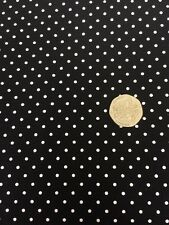 Swiss Dots Black Riley Blake Fabric FQ 45cm x 56cm + More 100% Cotton Craft