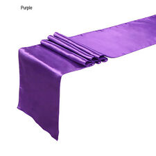 """12"""" x 108""""  Satin Table Runner Wedding Venue Decorations Wedding Party sw"""