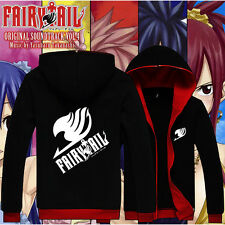 New Japan Anime Coat Clothes FAIRY TAIL Black Sweat shirt Casual Hoodie  S-XXL