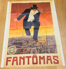 Affiche de cinéma : FANTOMAS de LOUIS FEUILLADE  (RESSORTIE ANNEES 80)