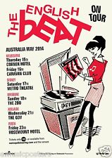 "THE ENGLISH BEAT ""ON TOUR"" 2014 AUSTRALIAN CONCERT POSTER- 2 Tone, Ska, New Wave"