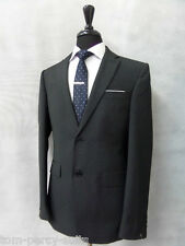 Men's Thomas Nash Slim Fit Black Pinstripe 2 Piece Suit 40R W36 L31 CC1738